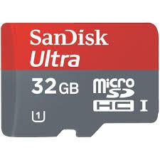 Micro SD Ultra Mobile Android 32GB HC + adattatore SD (80MB/s lettura)