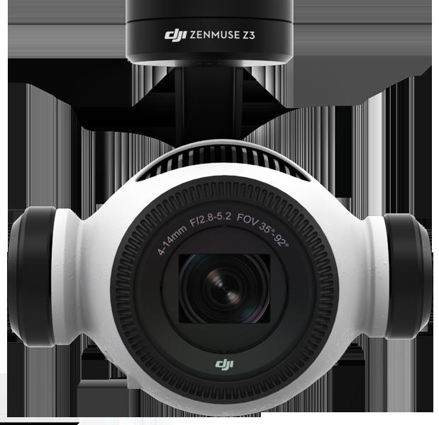DJI ZENMUSE Z3 (12 MP, Zoom ottico 3,5x, 4K)Videocamera per droni