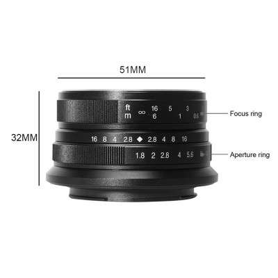 7ARTISANS 25mm f/1.8 x Fuji BLACK